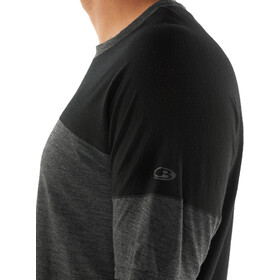 Icebreaker Kinetica T-shirt Col ras-du-cou Homme, black heather/black